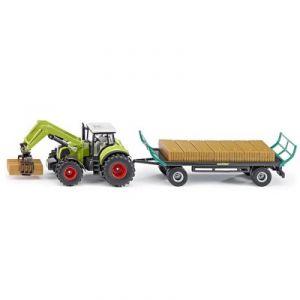 Siku 1946 - Tracteur + pinces + remorques - Echelle 1:50