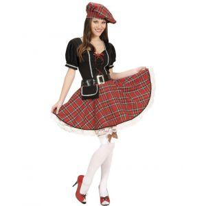 Déguisement écossaise robe rouge femme