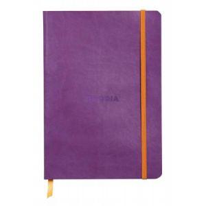 Rhodia 117410C Rhodiarama violet - Carnet souple format 14,8 x 21 cm, 160 pages ligné