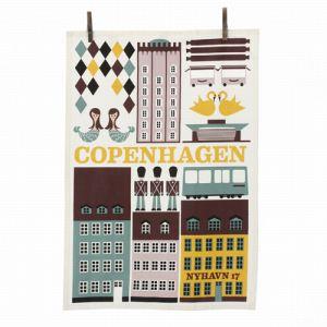 Ferm Living Torchon Copenhagen en coton (50 x 70 cm)