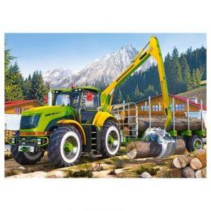 Castorland Tracteur Timber Crane - Puzzle 108 pièces