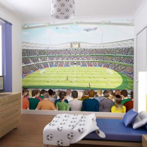 walltastic papier peint mural stade de foot 244 x 305 cm comparer avec. Black Bedroom Furniture Sets. Home Design Ideas