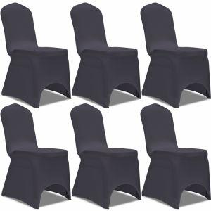 VidaXL Housse de chaise extensible 6 pièces