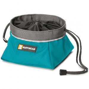 Ruffwear Gamelle de voyage pour chien Quencher Cinch Top bleu - Sac 2,5 l