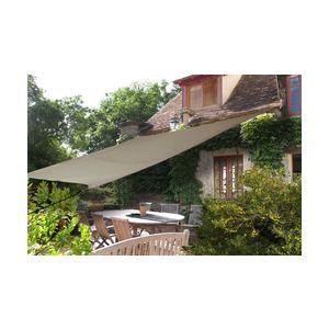 Ideanature Voile d'ombrage rectangulaire 4 x 2,9 m