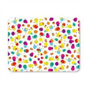 Pebbly Planche multifonction Splash en verre motif tâches de peinture (30 x 40 cm )