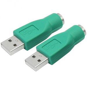 Pinzhi 2 Adaptateurs PS2/USB