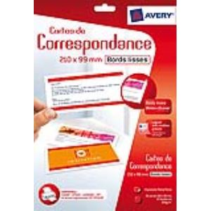 Avery-Zweckform C2358-12 - 36 cartes de correspondance à bords lisses (99 x 210 mm)