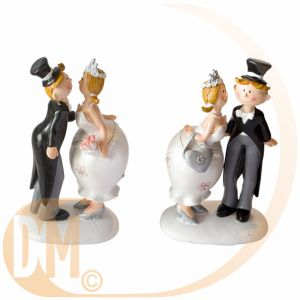 Figurine couple de mariés kiss (13.5 cm)
