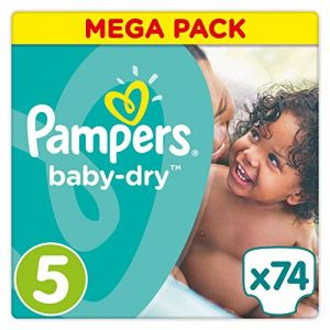 Pampers Baby Dry taille 5 (11-23 kg) - 74 couches