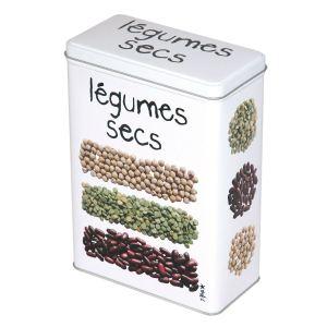 Incidence Boîte légumes secs Gourmet en métal