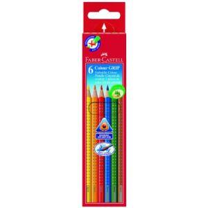 Faber-Castell Etui en carton de 6 unités crayons de couleur Colour Grip 2001