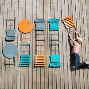 Fermob Bistro - Table de jardin ronde en acier Ø60 cm