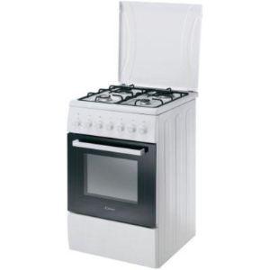 Candy CCG5540PW - Cuisinière mixte 4 foyers gaz avec four électrique