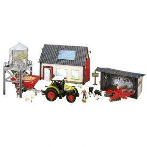 John World Grande ferme avec tracteur, figurines et accessoires