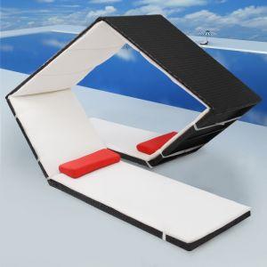 VidaXL Chaise lounge d'extérieur rotin poly