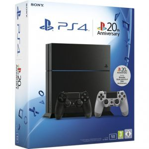 sony pack ps4 1 to 2 manettes 20th anniversary. Black Bedroom Furniture Sets. Home Design Ideas