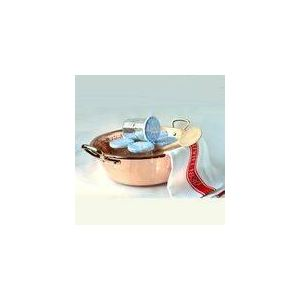 Mauviel Bassine à confiture en cuivre avec 6 pots (10 L)