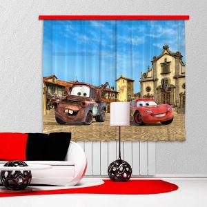 Voilage Cars Flash McQueen & Martin Disney (180 x 160 cm)