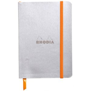 Rhodia 117301C Rhodiarama argent - Carnet souple format 10,5 x 14,8 cm 144 pages ligné