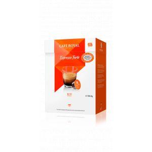 Café Royal 16 dosettes Espresso Forte pour machines Dolce Gusto