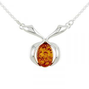 Rêve de diamants COBA01020 - Collier en argent 925/1000 et ambre