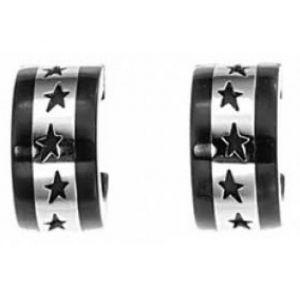 Thierry Mugler T31265N - Boucles d'oreilles Étoiles Noires