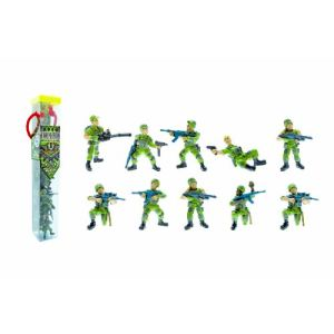 Plastoy Tubo de 10 figurines Soldats commando opération jungle