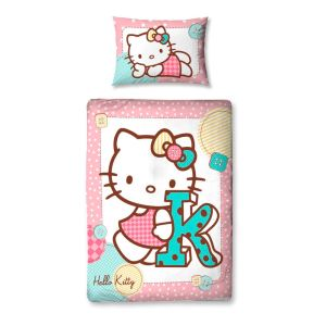 Character World Hello Kitty Stitch - Parure de lit (120 x 150 cm)