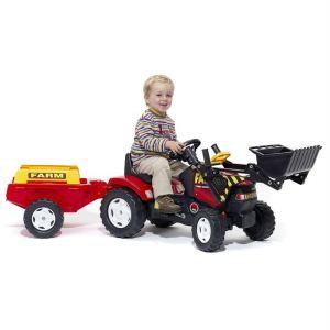 Falk Tracteur à pédales Farmer avec pelle et remorque PM