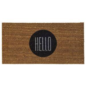 Bloomingville Paillasson rond Hello en coco (40 x 80 cm)