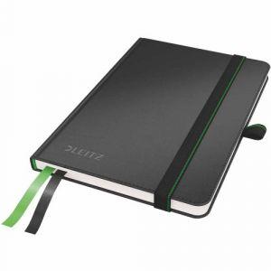 Leitz 4480-00-95 - Carnet broché Complete A6, 160 pages ivoire 96 g/m² lignées, élastique de fermeture, couv. rigide noir