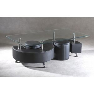 Table basse en simili cuir