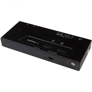 StarTech.com VS222HD4K - Switch et répartiteur HDMI 4K avec commutation rapide
