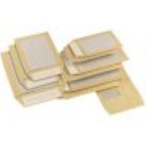 Gpv 100 pochettes kraft dos carton 26 x 33 cm (120 g)