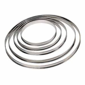 De Buyer 3091.24 - Cercle rond à tarte bord roulé (24 cm)