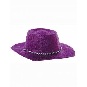 Chapeau cowgirl à paillettes