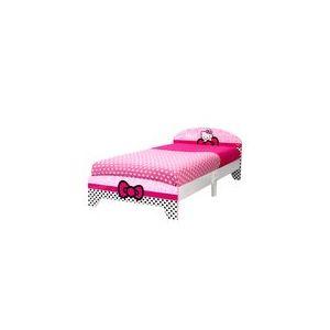 Worlds Apart Lit en bois pour fille Hello Kitty 90 x 190 cm
