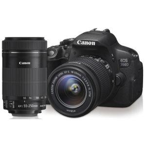 Canon EOS 700D (avec 2 objectifs 18-55mm et 55-250mm)