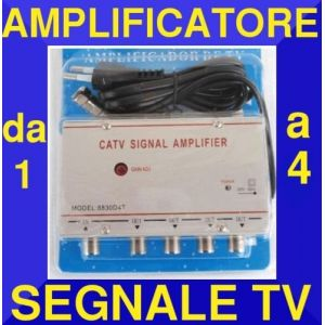 Amplificateur/splitter TV 4 signal, antenne, décodeur