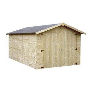 Decor et jardin Garove - Garage en bois 13 m2