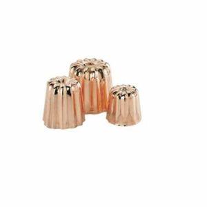 De Buyer 6820.35 - Petit moule cannelé Bordelais en cuivre