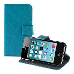 Kwmobile 11444 - Housse en cuir pour iPhone 4 et 4S avec fermeture aimantée