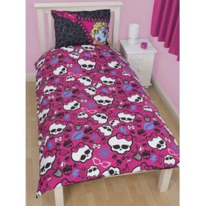 Character World Monster High Skullette 2013 - Housse de couette et taie (140 x 200 cm)