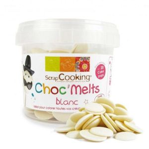 scrapcooking chocmelts pastilles blanches - Colorant Alimentaire Blanc