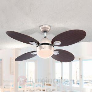 Globo Wade - Ventilateur de plafond lumineux avec interrupteur à tirette