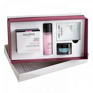 Galénic Coffret Aqua Infini : crème émulsion fraîcheur, lotion de soin et soin teint lumière hydratation bonne mine
