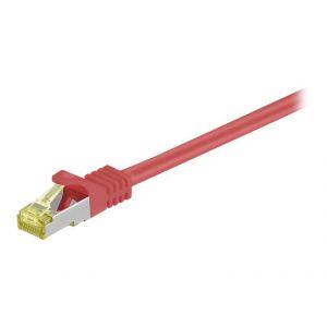 Goobay 91571 - Cordon RJ45 catégorie 7 S/FTP 0.25 m (Rouge)