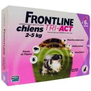 Frontline Tri-Act Chiens 2-5 Kg Boite de 6 Pipettes