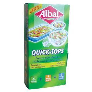 Albal Lot de 9 couvres plats élastiques Quick Tops